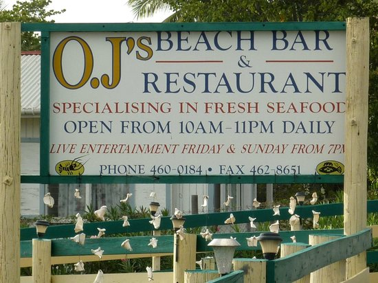 OJ's Bar & Restaurant: insegna