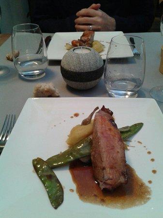 l'orée du bois : Veau pois gourmands et purée. ...de pommes de terre!