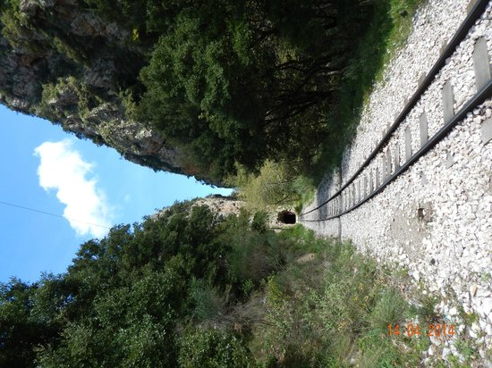 Vouraikos Canyon - Cog Railway : A tunnel