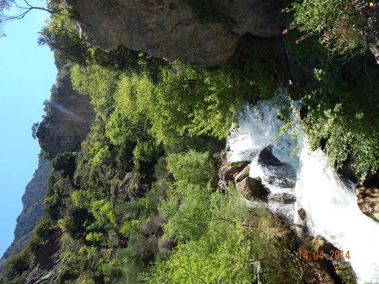Vouraikos Canyon - Cog Railway: A cascade