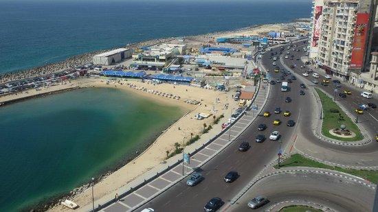 Romance Alexandria Corniche Hotel: The  view from 11th floor room