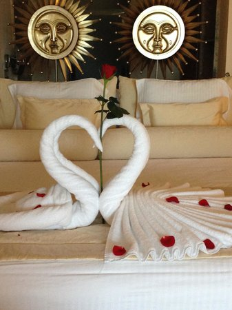 Excellence Playa Mujeres: Towel art on arrival
