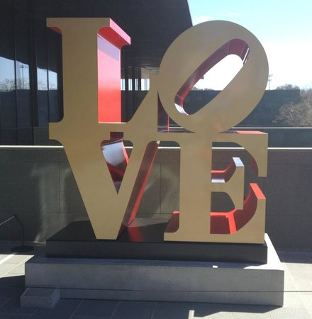 McNay Art Museum: One of Robert Indiana's LOVE installations