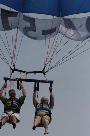 Gators Parasail: Flying High at 73!!!