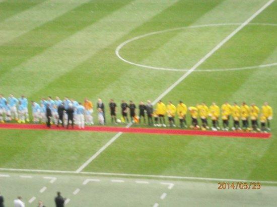 Wembley Stadium : Line Up