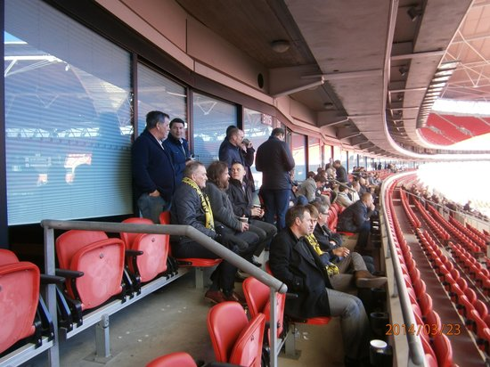 Wembley Stadium : Our extrerior seats outside of box
