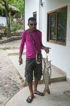 Playa La Roca Ecohotel : fresh fish!