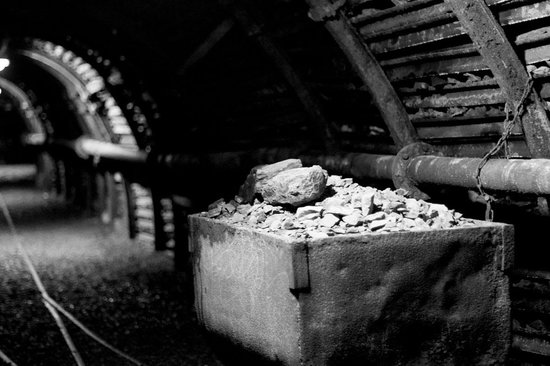 Blegny-Mine: Een van de wagentjes met kolen
