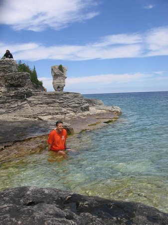 Fathom Five National Marine Park: the clear waters