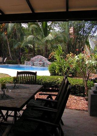 Forest Hills Suites : Vue vers la piscine