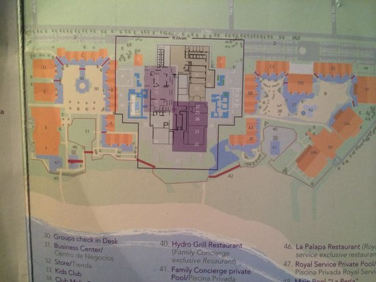 Paradisus Playa del Carmen La Perla: Resort map