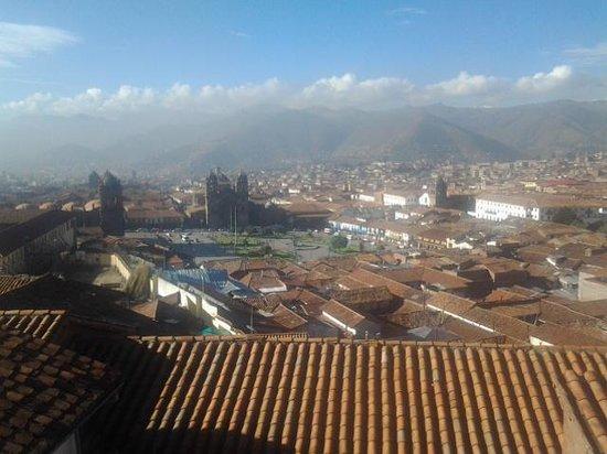Hostal Casa del Inka: en dégustant un pancakes sur la terrasse..
