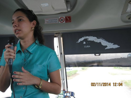 "Memories Paraiso Beach Resort: ""our cute host"" in the bus when arrived to Abel Santa Maria Airport"