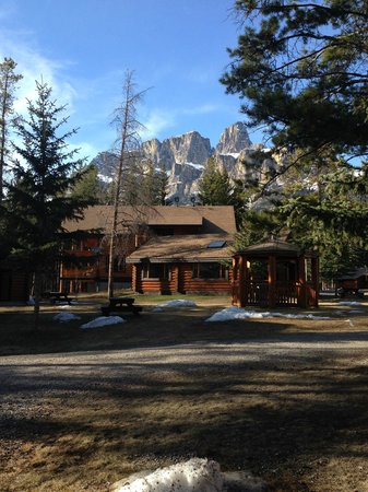 Castle Mountain Chalets: View from the front door - April 30th 2014