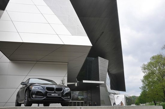 BMW Welt: Coming up from the Ubahn station