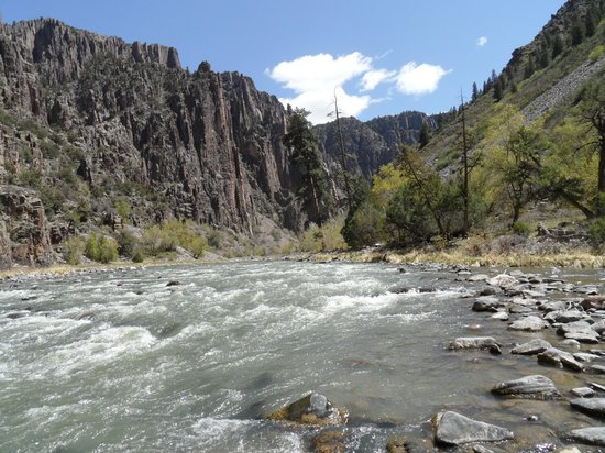 Black Canyon: You can hop from rock to rock and get to boulders in the middle of the river- great spot for a l