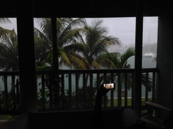 Pelican Bay at Lucaya: View from rm 235 - state suite - rainy day