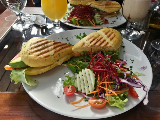 Cafe Orchid Coffee Shop: Paninis and cold drinks.