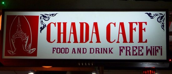 ‪‪Chada Hostel‬: Chada Hostel and Cafe sign‬