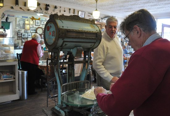 Robie's Country Store: Cutting the cheese on the store's antique scale