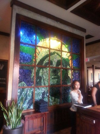 Liberty Tap Room: Stain glass entrance
