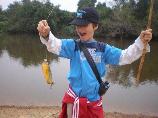 SouthWild Pantanal Lodge: fishing for piranha