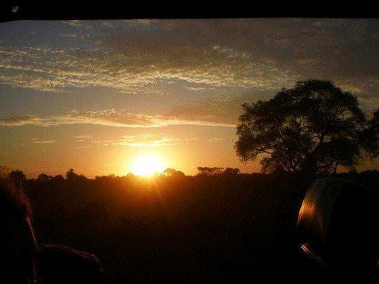 SouthWild Pantanal Lodge: sunset during the evening jeep safari