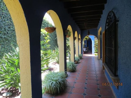 La Villa del Ensueno Hotel : Hall and Garden