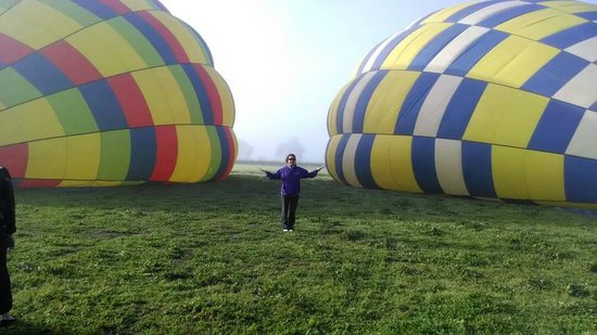 Balloons Above the Valley: Waiting as the balloons are filled with air
