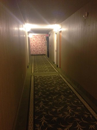 Ramada Asheville Southeast: Hallway. Not very soundproof and walls are thin.