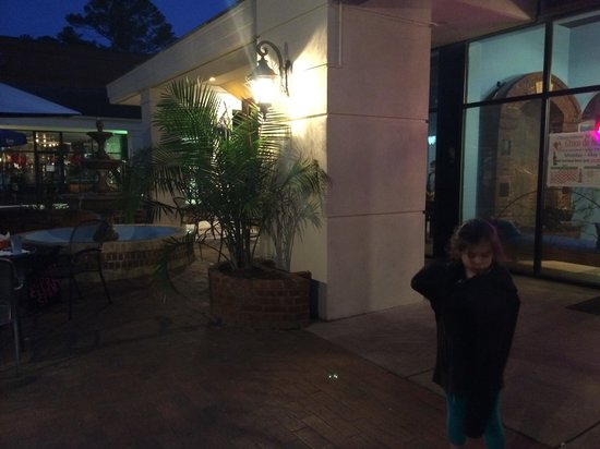 Chapala Mexican Resturant: My baby enjoying the terrace