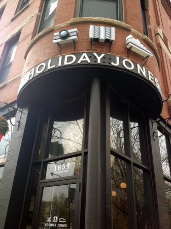 Holiday Jones: Outside Sign