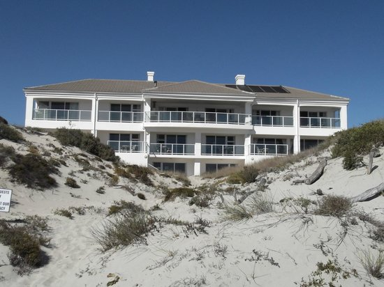 Oystercatcher Lodge: View from the beach