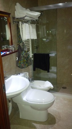 Hotel Rome Love: The bathroom was very clean
