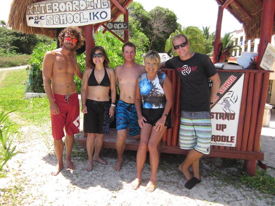 PDC Kiteboarding School and Water Sports Center: with the team