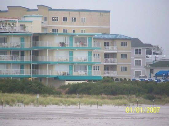 Aqua beach resort from the ocean