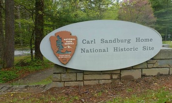 Carl Sandburg Home National Historic Site: Entrance sign.
