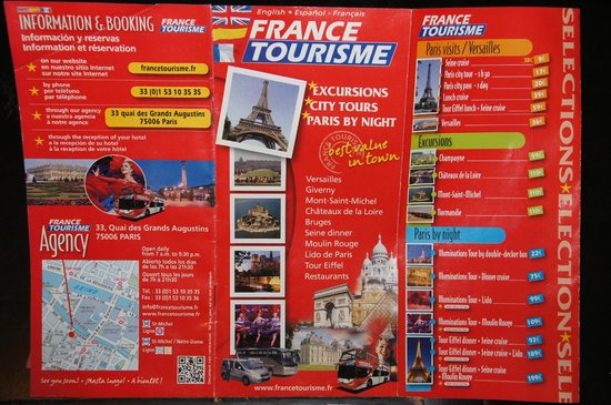 France Tourisme - Daily tour : folleto de France Tourisme Julio 2013