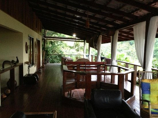 Princesa de la Luna Eco Lodge: Porch with a view