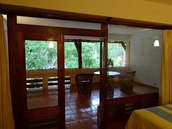 Hotel & Bungalows Mayaland: private balcony with garden view