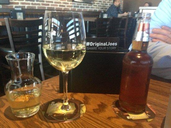 House Chardonnay and Sleeman's Honey Brown, Original Joe's     3681 Portage Avenue, Winnipeg, Ma