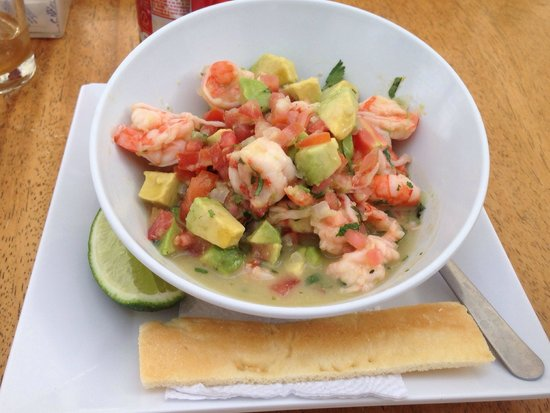 La Hola: Ceviche de camarón