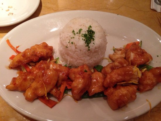 The Cheesecake Factory : Chicken with orange and rice. Yum.