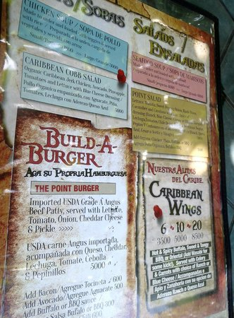 The Point Sports Bar & Grill: Menu - burgers