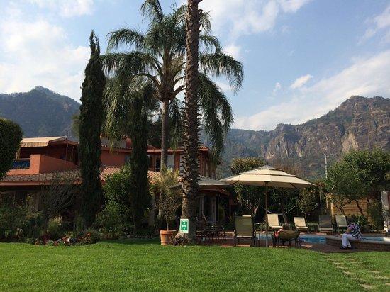 Jardin Restaurant: Extraordinaria vista desde el restaurante.