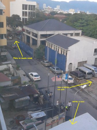 Hotel Sentral Georgetown: Just abt 150m walk to the main road
