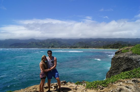 Laie Point State Wayside Park : Anita & Rohon at Laie Point, Oahu
