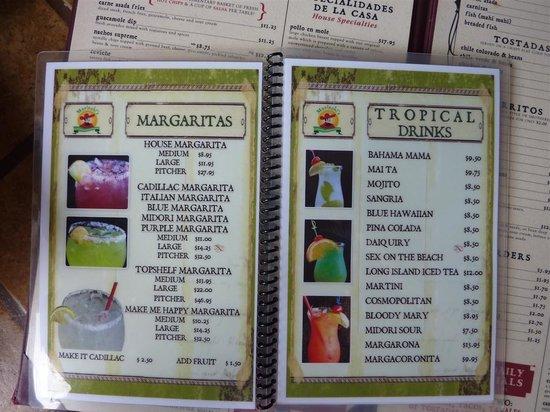 Mariachi's Authentic Mexican Restaurant: Drink Menu