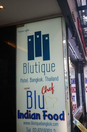 Blutique Hotel: Entrance
