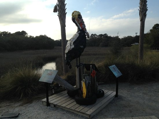 Shem Creek Park : Cool sculpture at the trailhead.